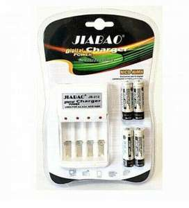 Rechargeable Battery Charger (With 4 Free AA Batteries)
