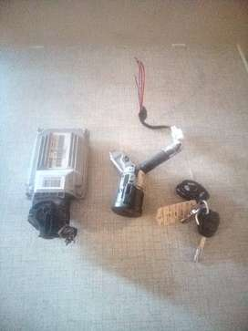 2014 GEELY CROSS 1.5I LC IGNITION BARREL,KEY AND ECU (COMPUTER BOX)