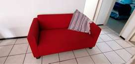 Red 3 piece couch set