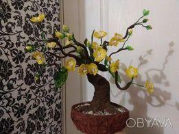 Декоративные деревья-бонсаи, авторские вазы под заказ