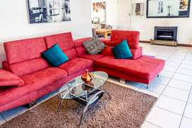 L- Shaped Red Couch