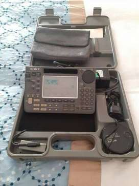 SONY WORLD BAND RECEIVER IN BOX WITH ALL ACCESSORIES