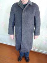 Пальто теплое мужское лама
