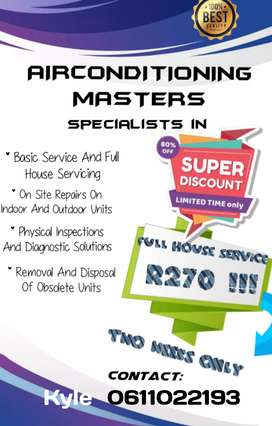 Crazy air con full house service special!!