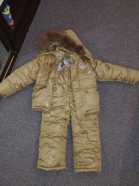 Продам зимний тёплый костюм на рост 104-110 см. На фото ребёнок 116см Харьков - изображение 1