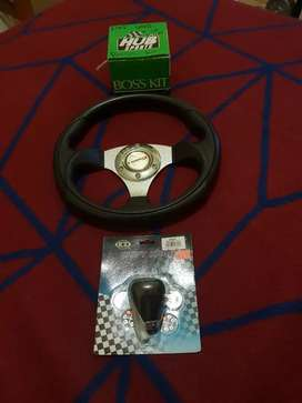 Steering wheel and hub for fiat uno