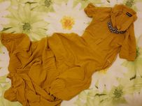 Платье желтое MUSTHAVE MUST HAVE 32 р. летнее длинное