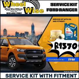 Ford Ranger Service Kit ONLY R1370 at Wheel Wise Witbank!