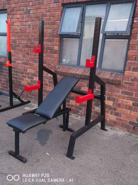 Squat rack and incline decline bench set. Heavy duty frames