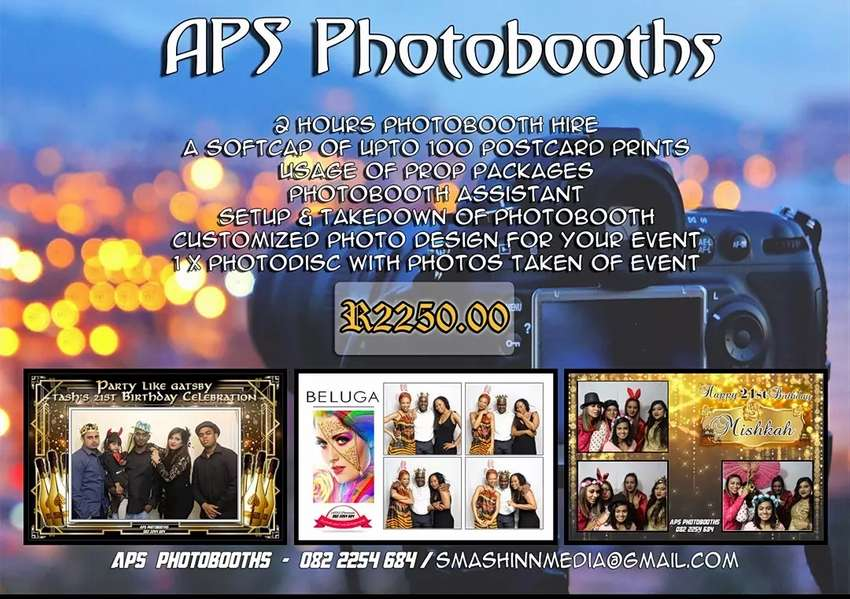 Aps Photobooths - March Special 15% Off 0
