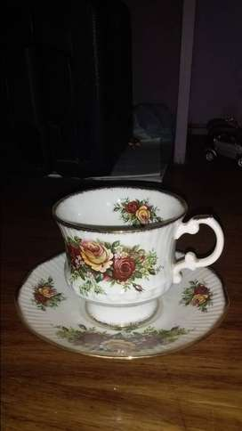 Elizabethan cup and saucer