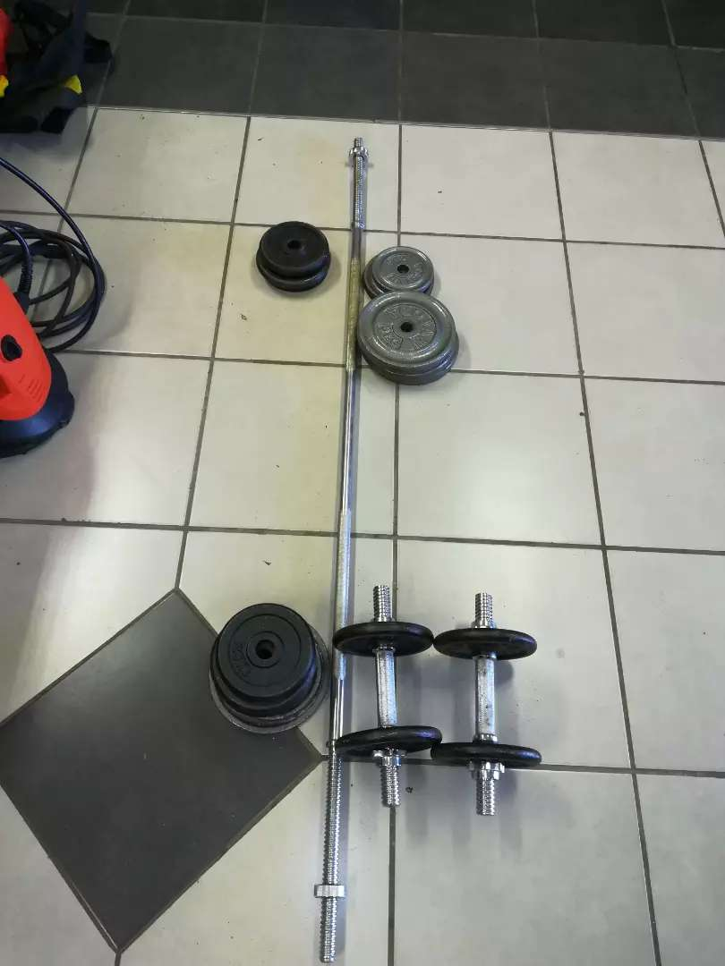 Weight and bars set 50kg weights 0