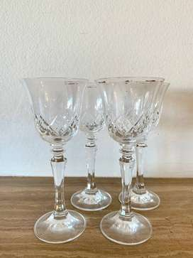 Detailed Glass Sherry Glasses