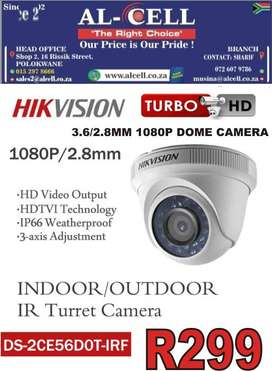 HIKVISION DS-2CE56DOT-IRF 1080P 3.6MM DOME CAMERA