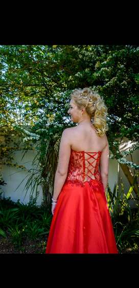 Matric farewell dress coral red