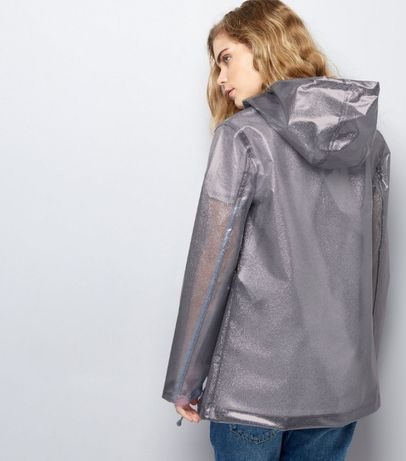 Дождевик худи анорак прозрачный с блестками. one size Одесса - изображение 2