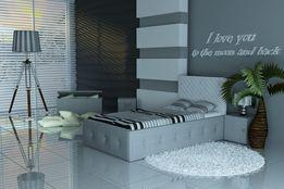 Eleganckie łóżko dla dzieci, 3 wymiary, raty, Eko skóra, tkanina