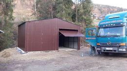 garaże blaszane, 7 x 6 dwuspad,wys.3 m, wzmocniony, profil, wiaty,hale