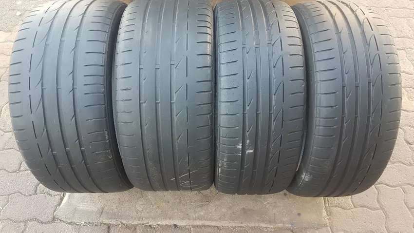 Bmw tyres set 225/40/19 & 255/35/19 run flat Bridgestone potenza 80 0
