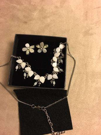 Komplet biżuterii masa perłowa, kwiatki Kalisz - image 2