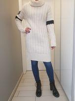 Sweter sukienka GIGI Hadid Tommy Hilfiger Ecru S