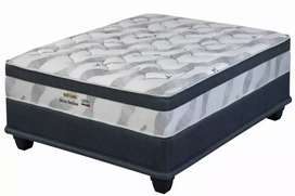 RESTONIC S/COILED QUEEN BED'S