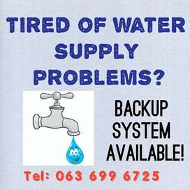 Water back up system Newcastle