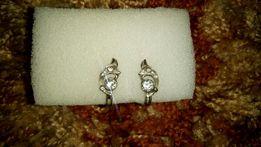 Серьги серебро, сережки серебряные