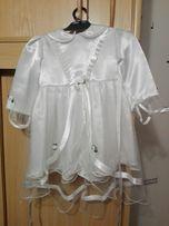 Sukienka do chrztu plus czapeczka