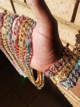 Icy Cuban Link Chain and Bracelet Set