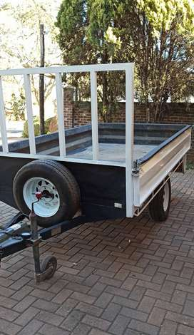 Trailer ,single axle, with brakes drop-side 1 T