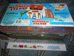 Подарочный Набор детских инструментов Маленький столяр в сундуке Орион