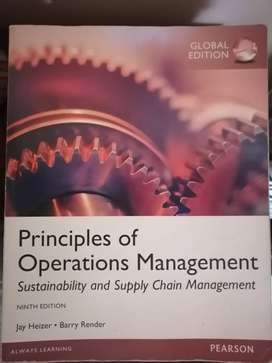 Principles of operations management. 9th edition