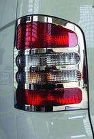 Накладки на стопы (задние фонари) Т5/ Кадди/ Т4 (caddy/ t5/t4) нерж.