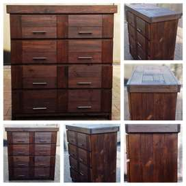 Chest of drawers Farmhouse series 1100 stained