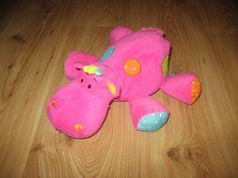 Maskotka pluszak hipopotam grzechotka