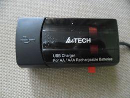 Зарядне А4Tech на 2 батарейки АА/ААА