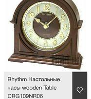 Rhythm Настольные часы wooden Table CRG109NR06