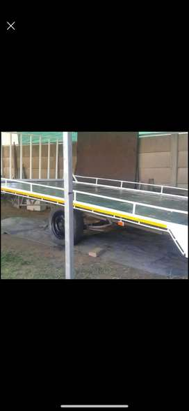 Flatdeck trailer .3.9mx2m.with new papers.