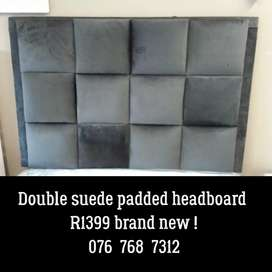 Double suede headboard