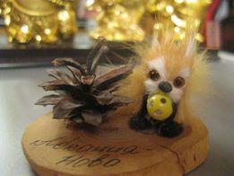 фигурка статуэтка ручная работа декор белка мех дерево Аскания Нова