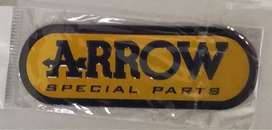 Arrow exhaust badge - Aluminium heat proof