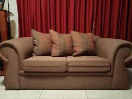 2x Couches with Wingback chair