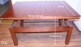 Porządny stół ławostół Mateo, drewniany, kolor czereśnia oranż