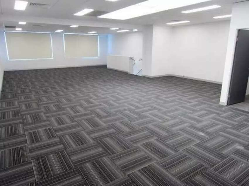 Wall to wall tile carpet 0