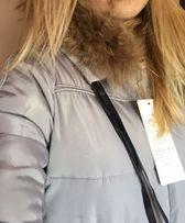 Пуховик зимний, Куртка женская, Пальто зимнее с натуральным мехом!