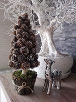 Drzewko, choinka z szyszek Handmade