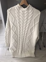 Sweter tunika sukienka ZARA