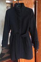 Женское чёрное пальто осень-зима