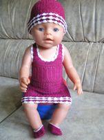 Вязаный комплект (одежда) для беби борн (bebi born)